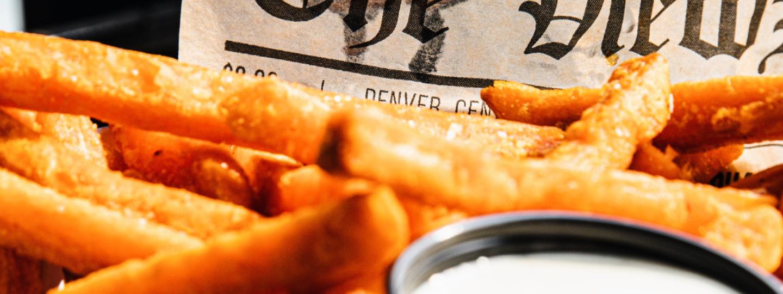 Crispy Oven Fries with Cannabis Aioli
